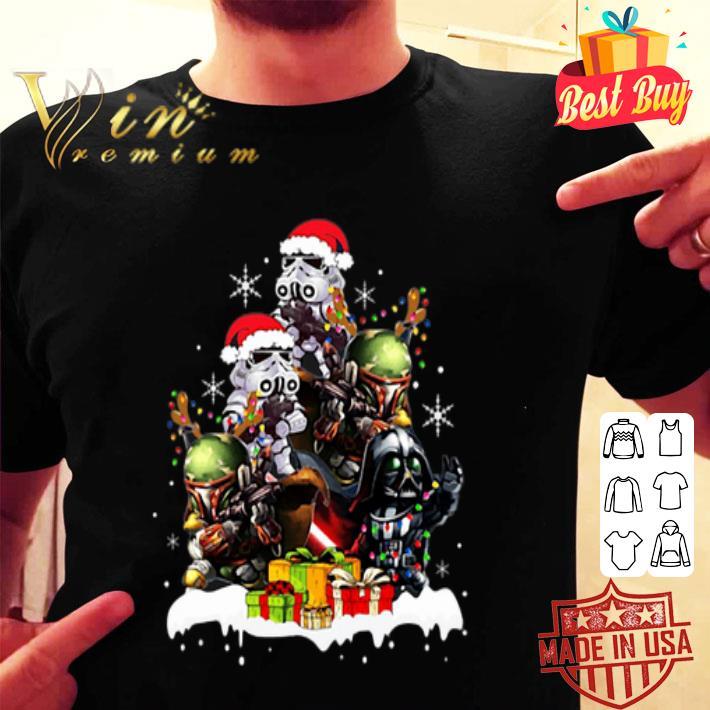 - Chibi Boba Fett Darth Vader Stormtrooper Christmas tree shirt