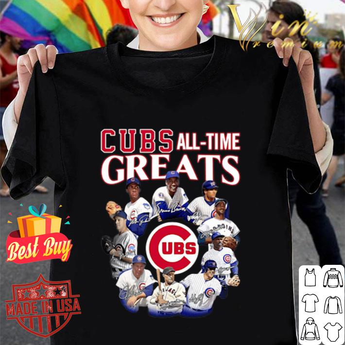 - Chicago Cubs all time Greats team players signatures shirt