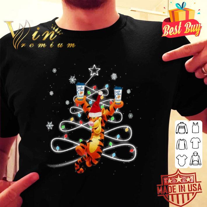 Christmas Tigger Dutch Bros Coffee shirt