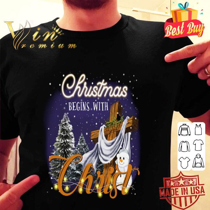 Christmas begins with Christ shirt