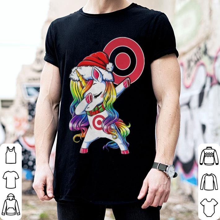 Christmas dabbing unicorn Target shirt