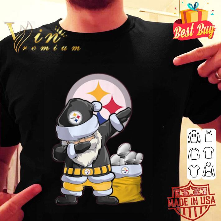 Dabbing Santa Pittsburgh Steelers Logo Christmas shirt
