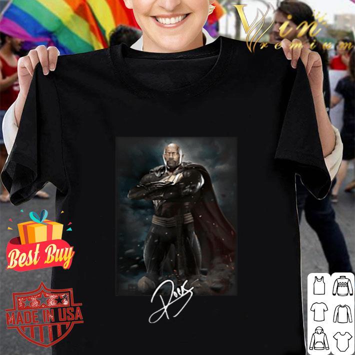 - Dwayne Johnson The Rock Black adam signature shirt