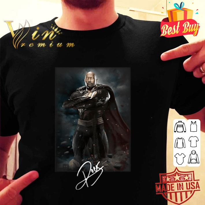 Dwayne Johnson The Rock Black adam signature shirt