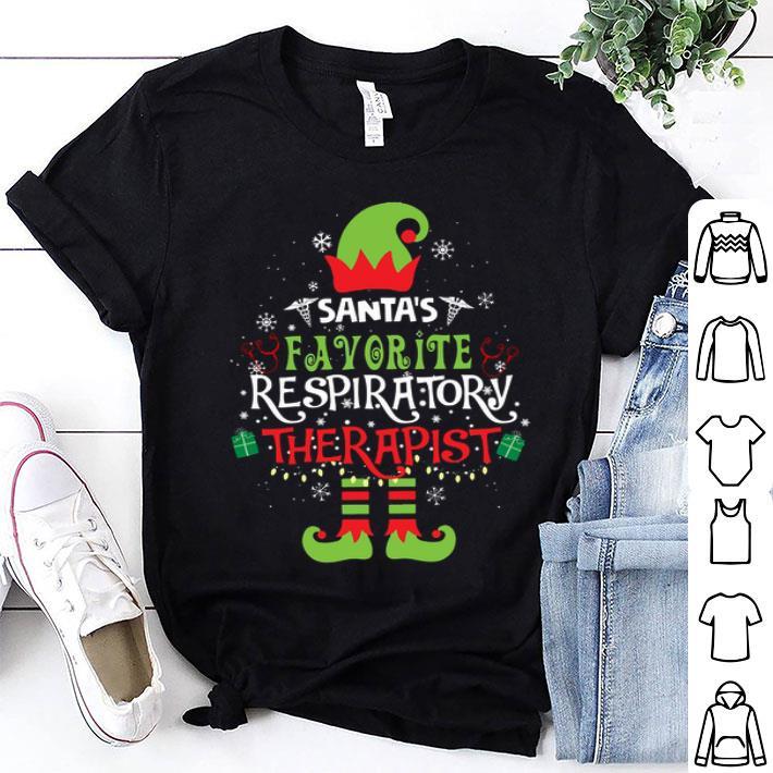 Elf Christmas santa's favorite respiratory therapist shirt