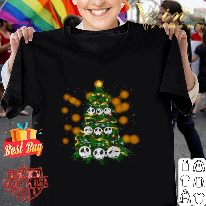 Face Jack Skellington Christmas tree shirt