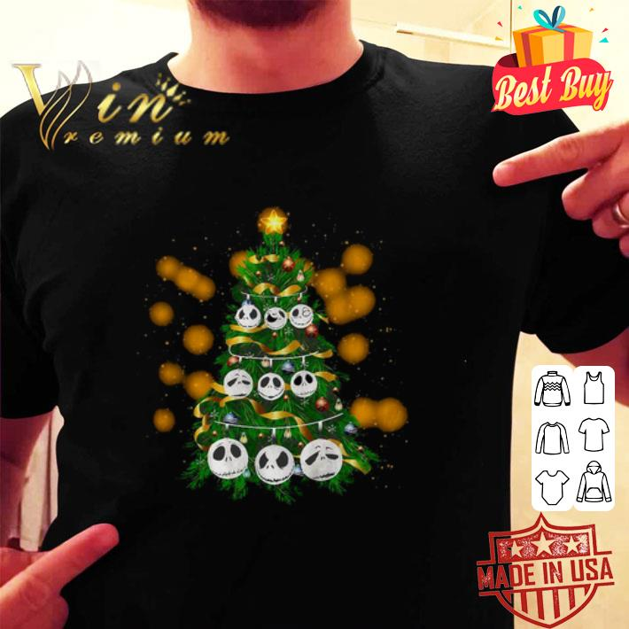 - Face Jack Skellington Christmas tree shirt