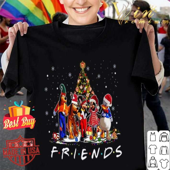 - Friends Mickey Mouse characters Christmas tree Disney shirt