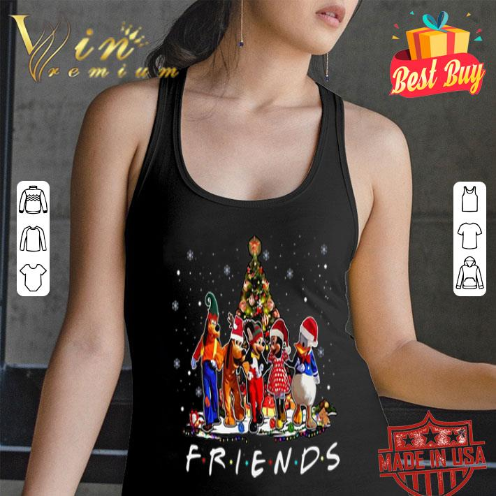Friends Mickey Mouse characters Christmas tree Disney shirt