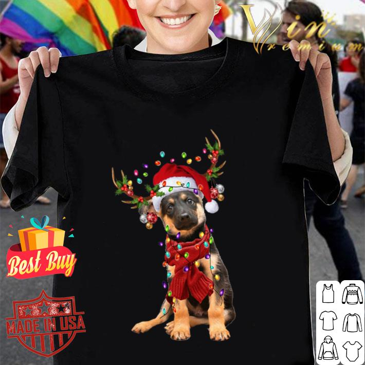 - German Shepherd Reindeer Christmas shirt