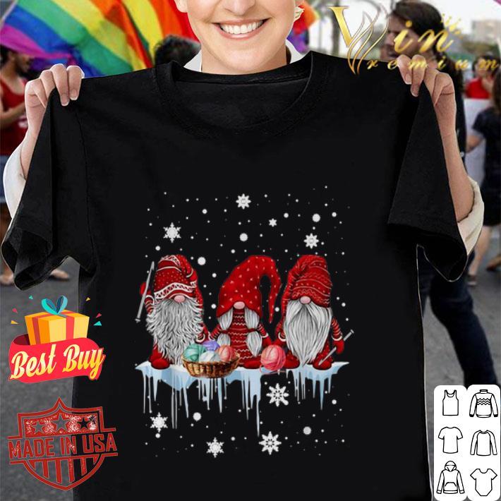 - Gnomes knitting Christmas shirt