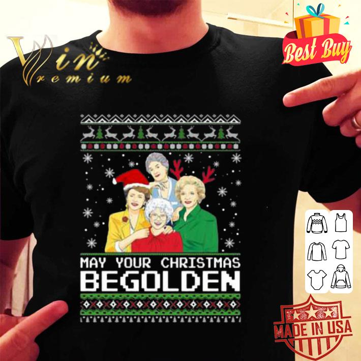 - Golden Girls May Your Christmas be Golden shirt