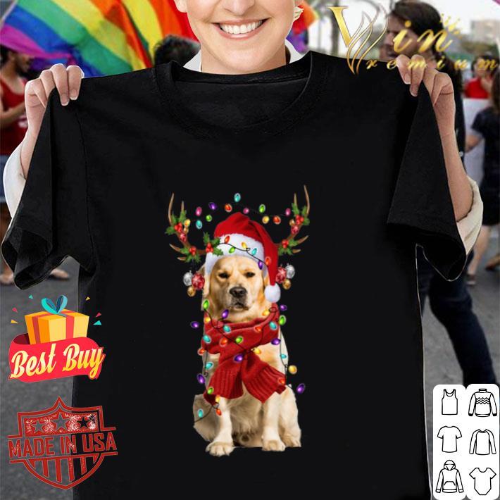 - Golden Retriever Reindeer Christmas shirt
