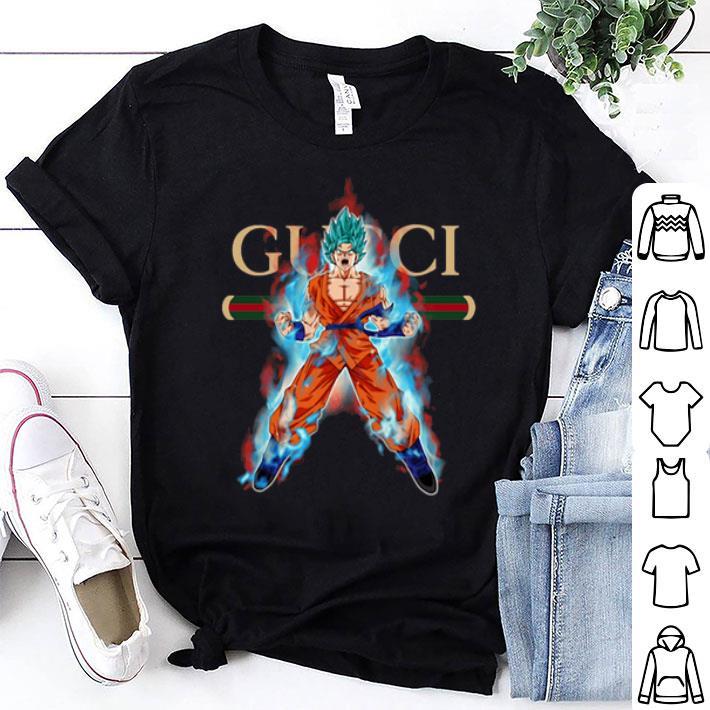 - Gucci Son Goku Super Saiyan Blue shirt