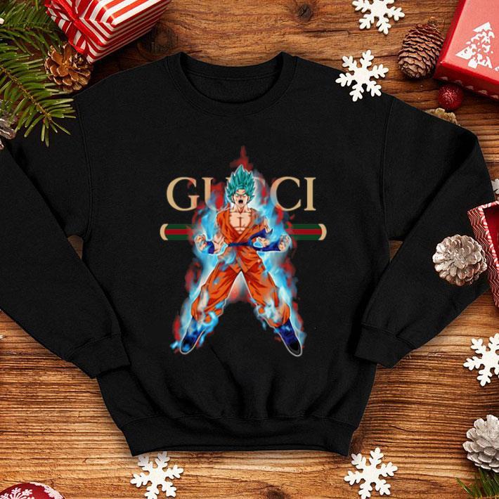 Gucci Son Goku Super Saiyan Blue shirt