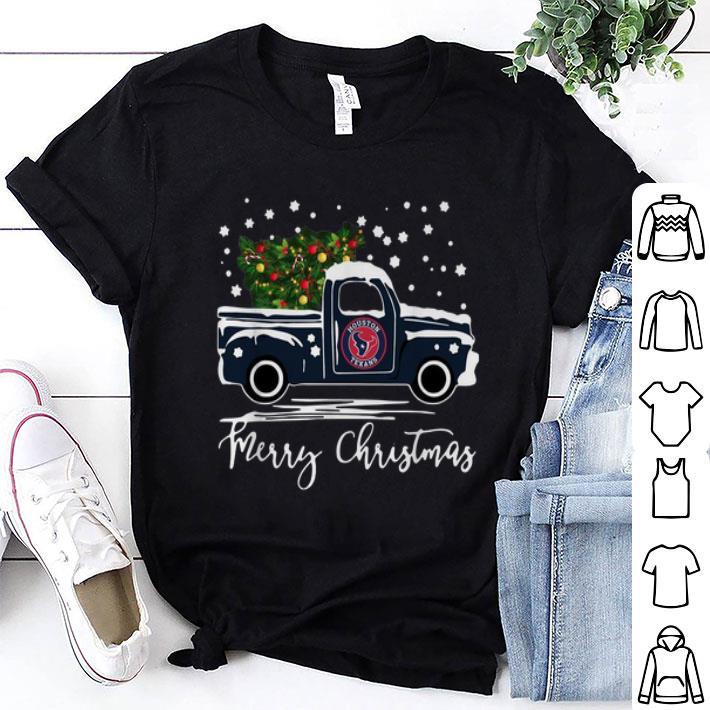 - Houston Texans truck Merry Christmas shirt