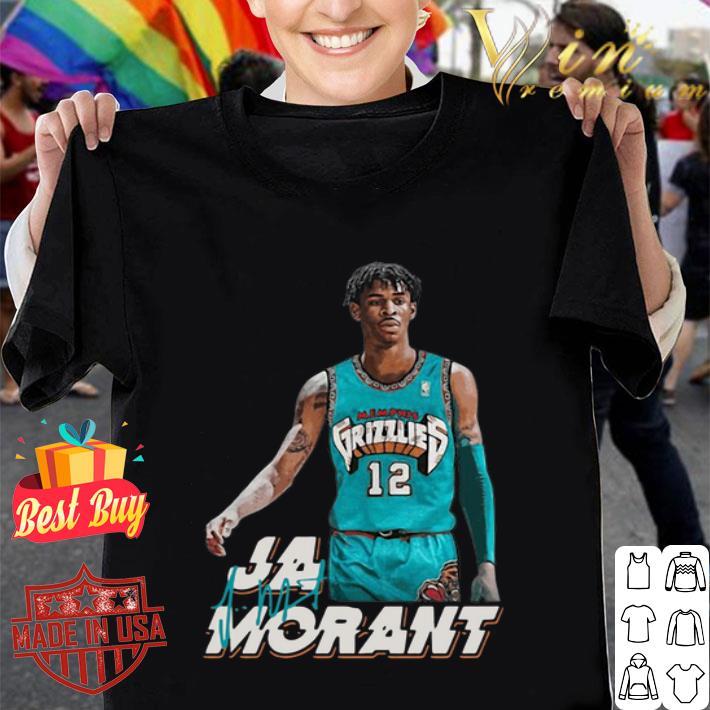 - Ja Morant 12 Memphis Grizzlies Basketball signature shirt