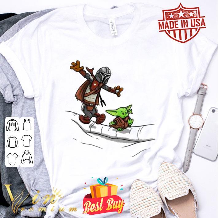 - Mando and Baby Yoda Mandalorian shirt