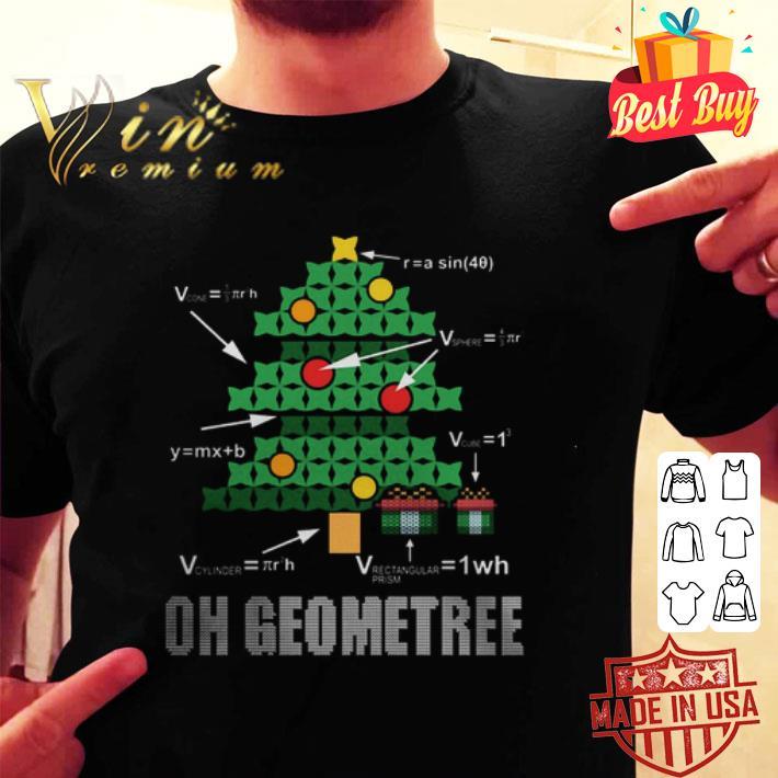 - Math Geometry Christmas tree oh Geometree teacher shirt
