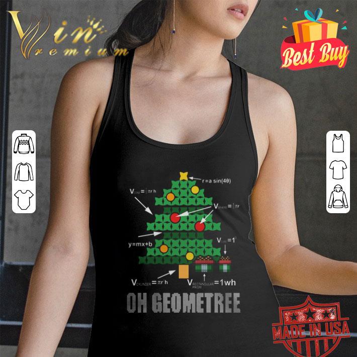 Math Geometry Christmas tree oh Geometree teacher shirt