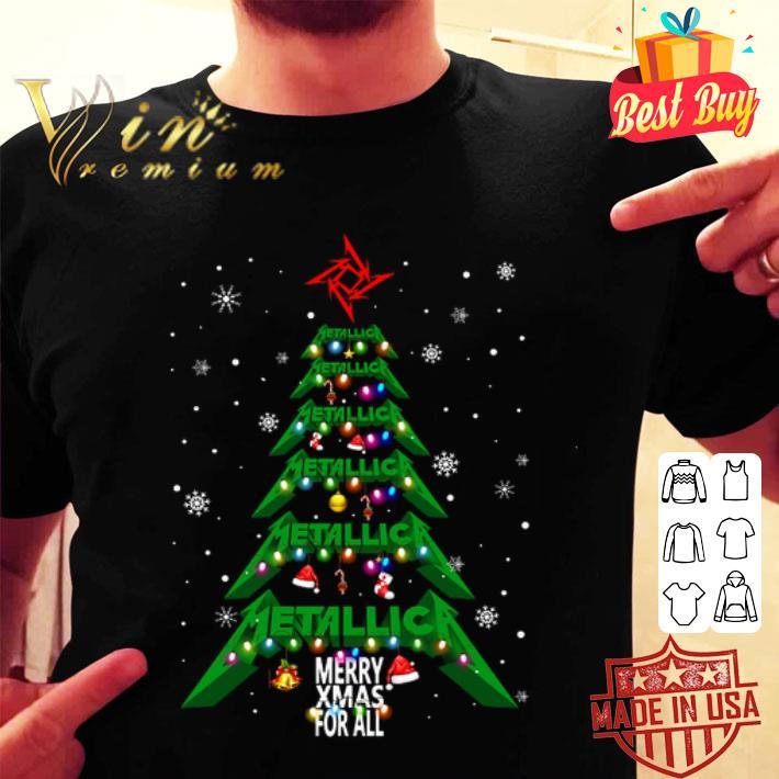 - Metallica logo Merry Xmas for all Christmas tree shirt