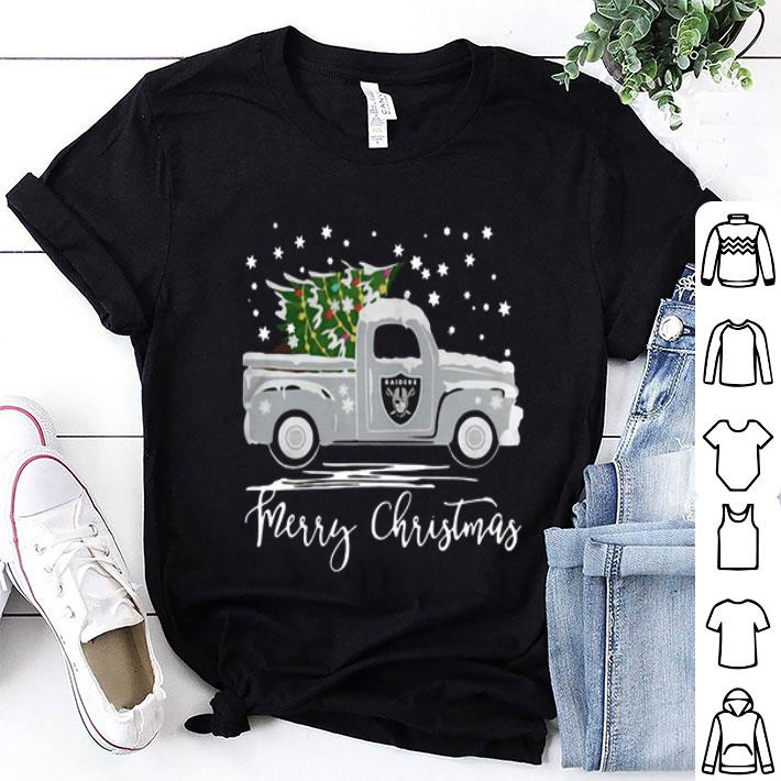Oakland Raiders Truck Merry Christmas shirt