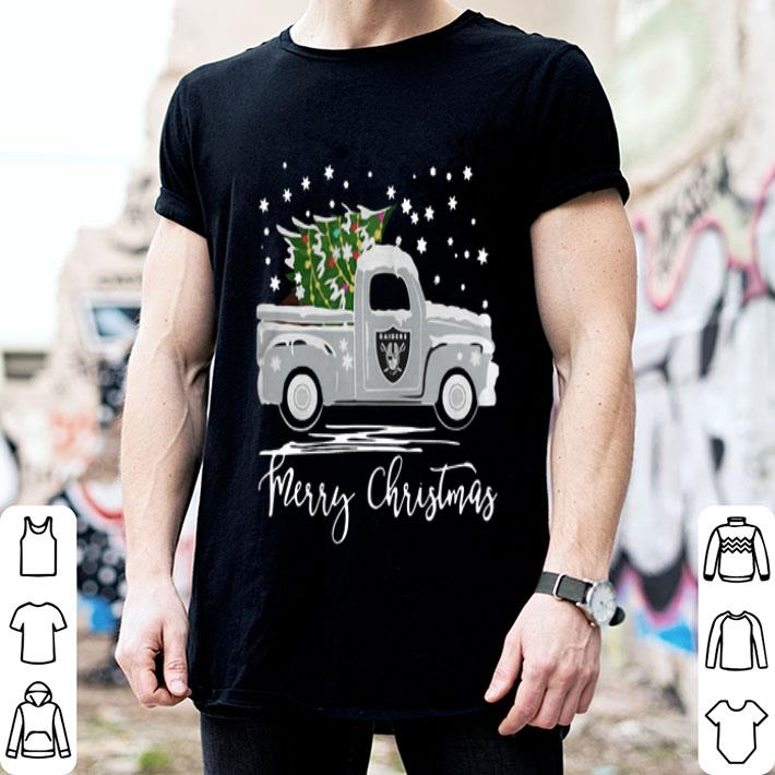 - Oakland Raiders Truck Merry Christmas shirt
