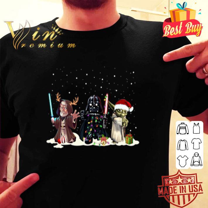 - Palpatine Darth Vader Yoda Chibi Christmas shirt