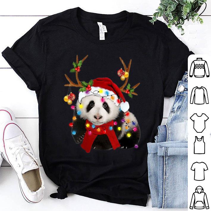 Panda Reindeer Christmas shirt