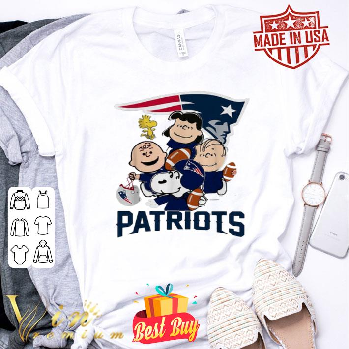 - Peanuts characters New England Patriots Snoopy Charlie Brown shirt