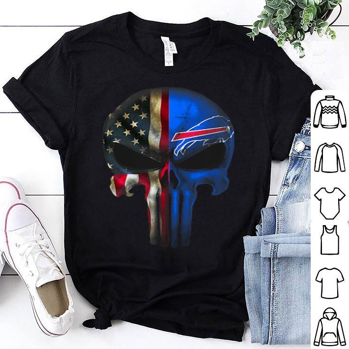- Punisher Skull American flag Buffalo Bills shirt