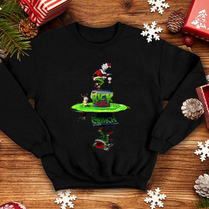 - Rick And Morty Crossover The Grinch Stole Plumbus shirt
