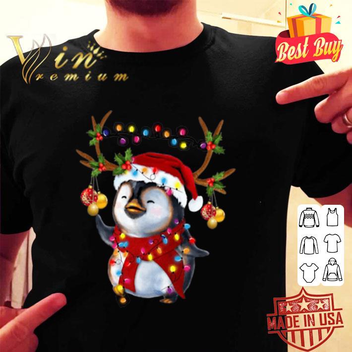- Santa Penguin Reindeer Christmas shirt