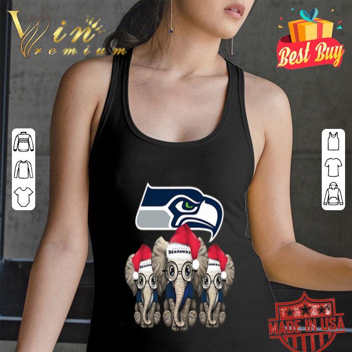 - Seattle Seahawks Elephant Christmas shirt