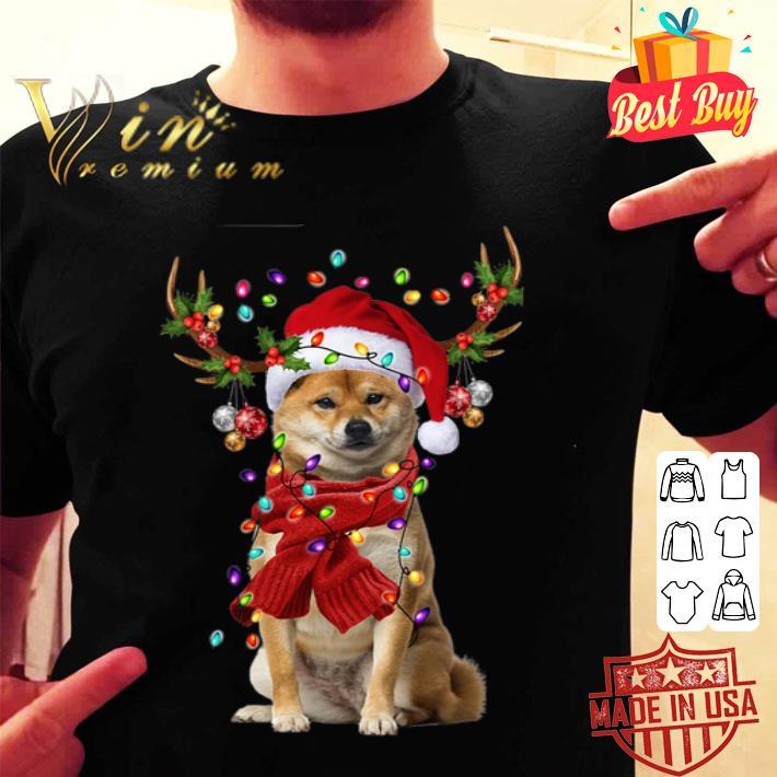 - Shiba Inu Reindeer Christmas shirt