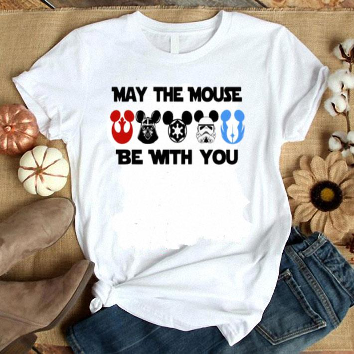 - Star Wars characters version Mickey may the mouse be with you shirt