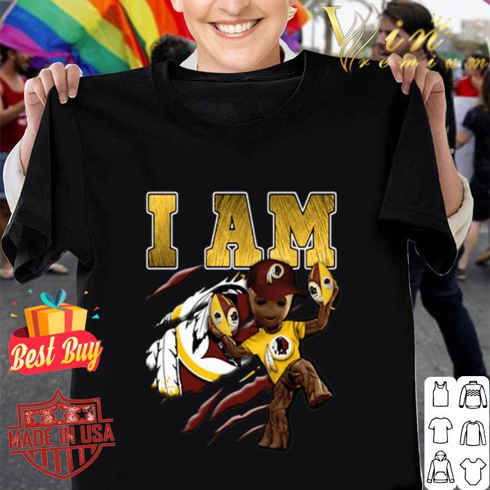 Strong Groot I Am Washington Redskins shirt