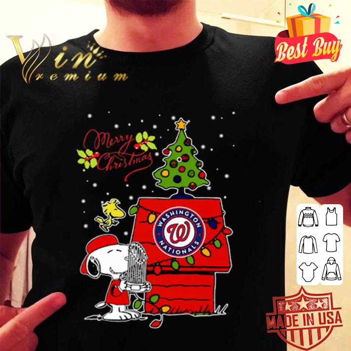 - Washington Nationals Snoopy Woodstock Merry Christmas shirt