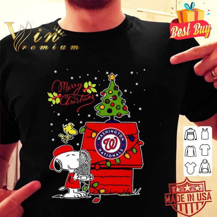 Washington Nationals Snoopy Woodstock Merry Christmas shirt
