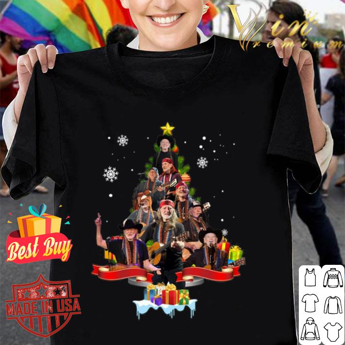 - Willie Nelson Christmas tree gift shirt