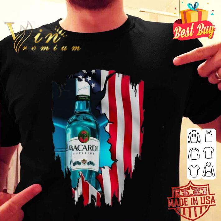- American flag Bacardi Superior 4th Of July independence day shirt