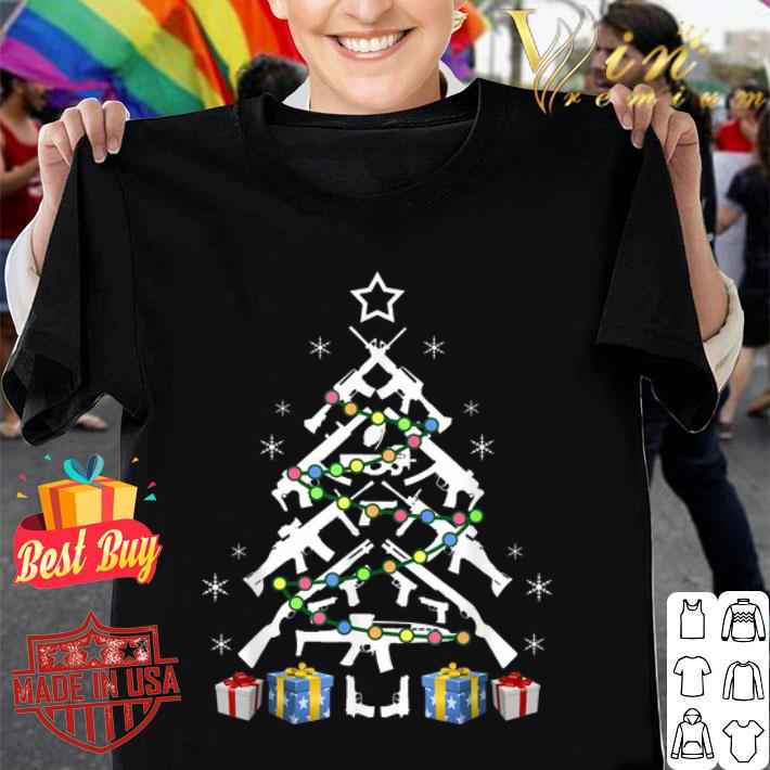 - Assault Rifle Handgun Christmas Tree shirt