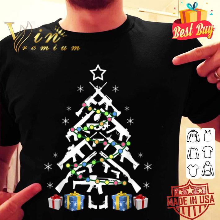 - Assault Rifle Handgun Christmas Tree shirt