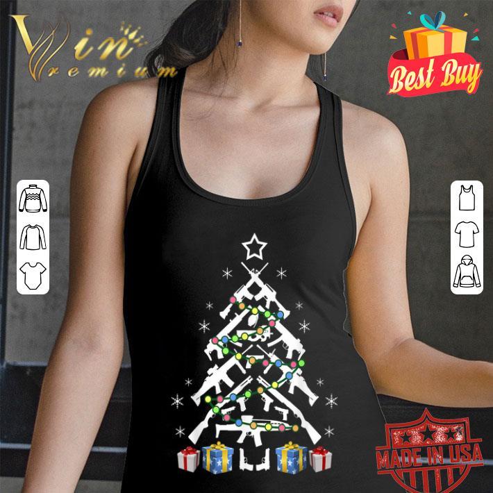 Assault Rifle Handgun Christmas Tree shirt