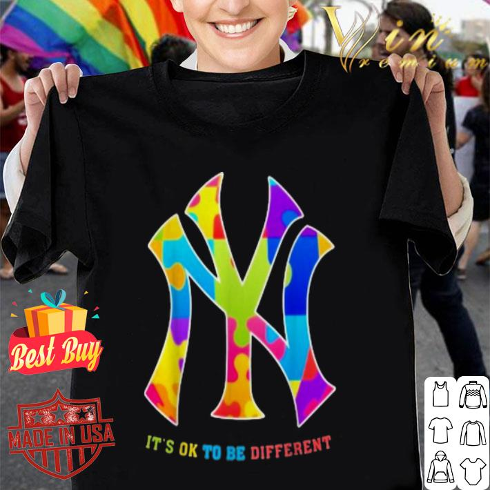 - Autism New York Yankees It's Ok To Be Different shirt