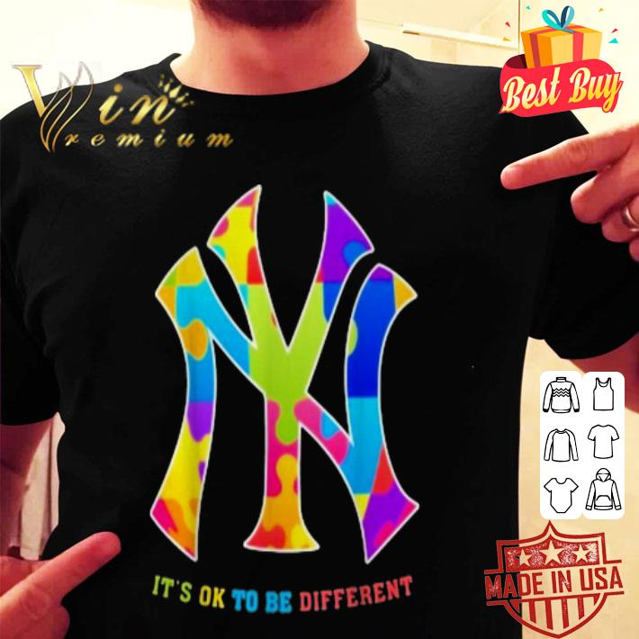 Autism New York Yankees It's Ok To Be Different shirt