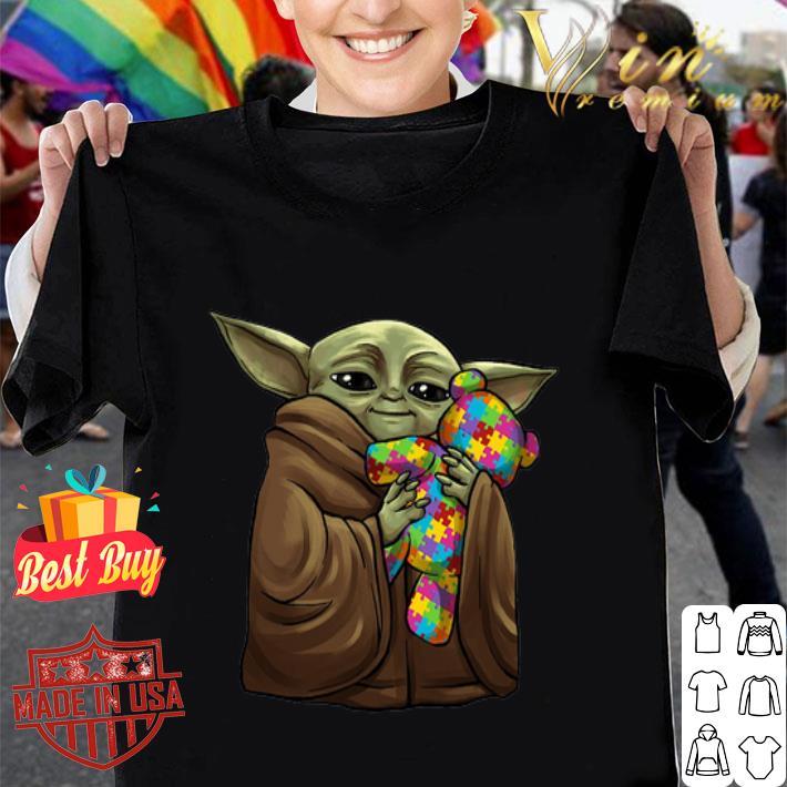 - Baby Yoda Hug Teddy Autism Disney shirt