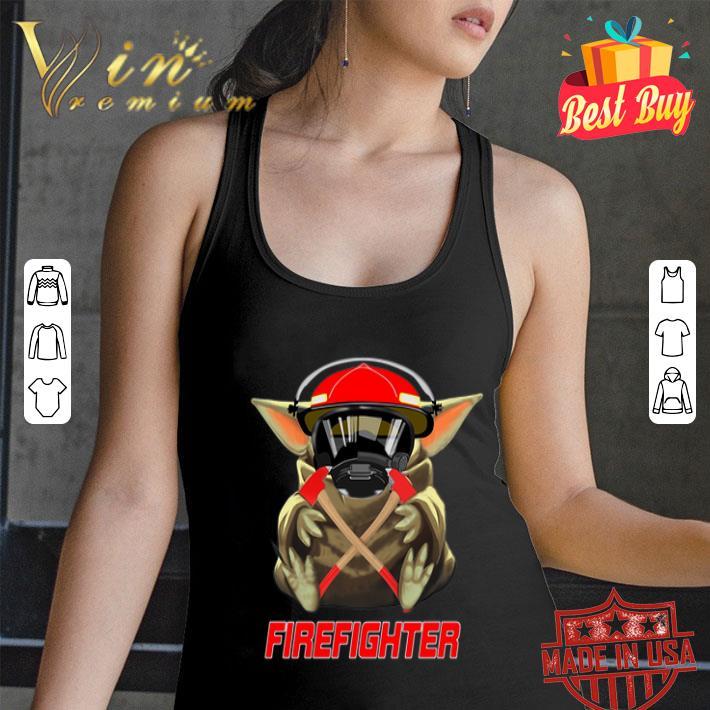 - Baby Yoda Mashup Firefighter Star Wars shirt