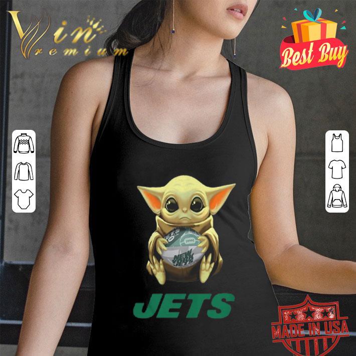 Baby Yoda hug New York Jets Star Wars Mandalorian shirt