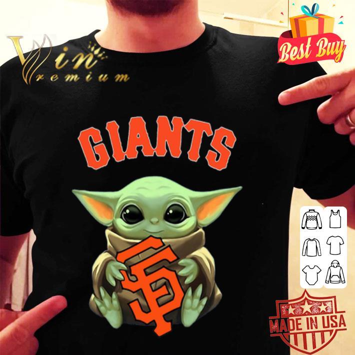 - Baby Yoda hug San Fran Giants Star Wars Mandalorian shirt